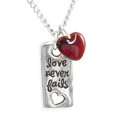 Love Never Fails, Pendant  -