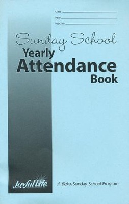 Sunday School Yearly Attendance Book   -