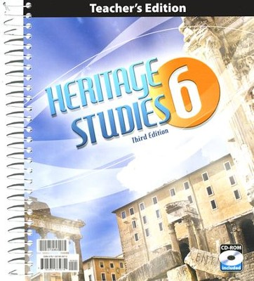 BJU Heritage Studies Grade 6 Teacher's Edition with CD-ROM (Third Edition)  -