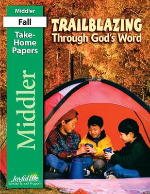 Trailblazing through God's Word Middler (Grades 3-4) Take-Home Papers  -