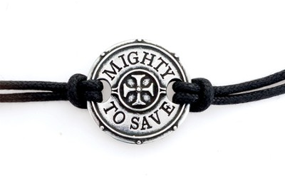 Mighty To Save Cord Bracelet  -