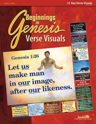 Beginnings in Genesis Ch. 1-11: Creation, Flood, Babel Youth to Adult Bible Study, Key Verse Visuals  -