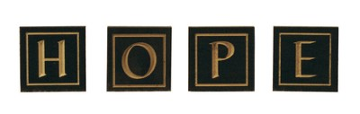 Hope Letter Blocks, Black   -