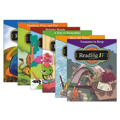 BJU Reading Grade 1 Readers Set A-F, Fourth Edition    -
