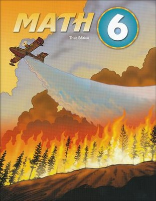 BJU Math Grade 6 Student Text, Third Edition    -