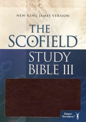 The Scofield Study Bible III, NKJV Duradera Burgundy Zippered  -