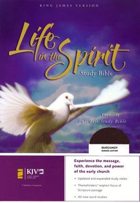 KJV Life in the Spirit Study Bible, Bonded Leather, Burgundy (Previously titled The Full Life Study Bible) - Imperfectly Imprinted Bibles  -