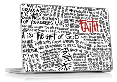 Faith Scribble Laptop Skin  -