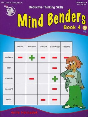 Mind Benders Book 4, Grades 3-6   -