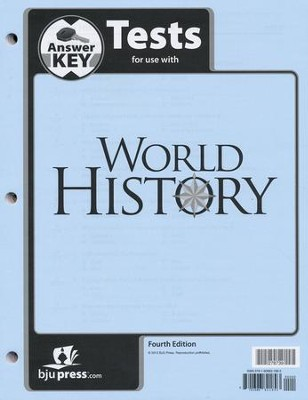 BJU World History Test Key, Grade 10, 4th Edition   -