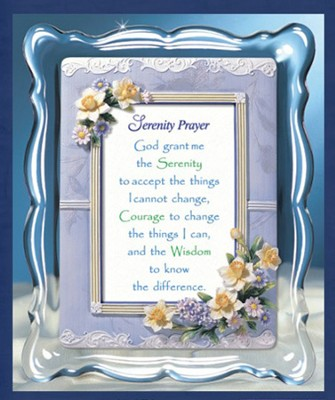 Serenity Prayer Musical Framed Sentiment  -