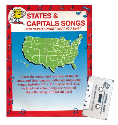 Audio Memory States & Capitals Cassette and Poster Kit   -     By: Kathy Troxel