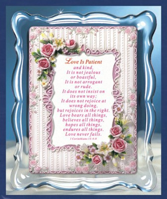 Love Is Patient Musical Framed Sentiment  -