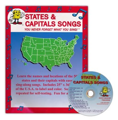 Audio Memory States & Capitals Songs Poster & CD Set    -     By: Kathy Troxel