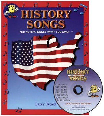 Audio Memory History Songs Workbook & CD Set   -     By: Larry Troxel