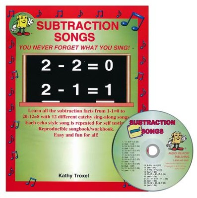 Audio Memory Subtraction Songs Workbook & CD Set    -