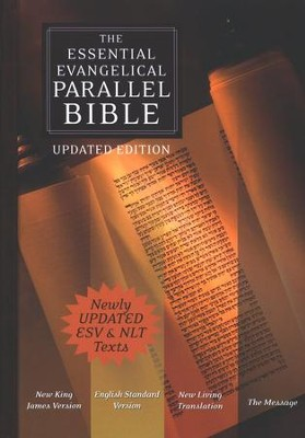 The Essential Evangelical Parallel Bible (NKJV/ESV/NLT/The Message), hardcover  -     By: John R. Kohlenberger III