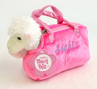Personalized Lamb In Purse, Pink   -