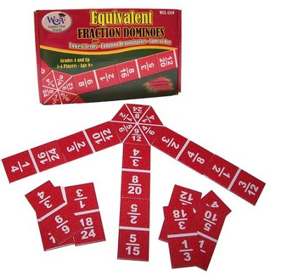 Equivalent Fraction Dominoes Game, Grades 4-9   -