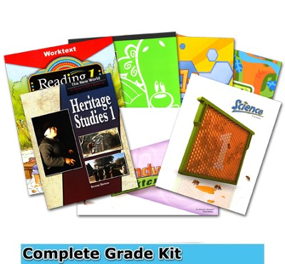 BJU Press Complete Grade 1 Homeschool Kit (2012 Edition)  -