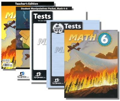 BJU Press Math Grade 6 Homeschool Kit (3rd Edition)  -