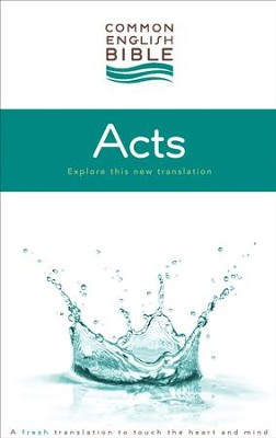 CEB Common English Bible Acts of the Apostles - eBook [ePub] - eBook  -