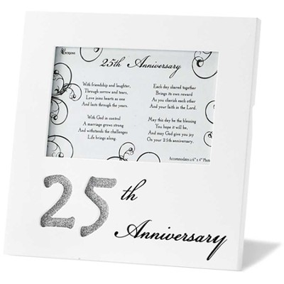25th Anniversary Photo Frame, United in God's Love  -