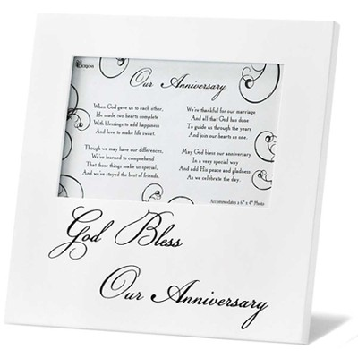 God Bless Our Anniversary Frame             -