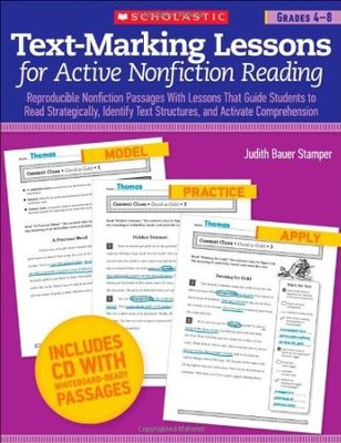 Text-Marking Lessons for Active Nonfiction Reading Grades 4-8  -     By: Judith Bauer Stamper