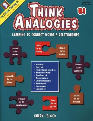 Think Analogies Book B1, Grades 6-8   -     By: Cheryl Block