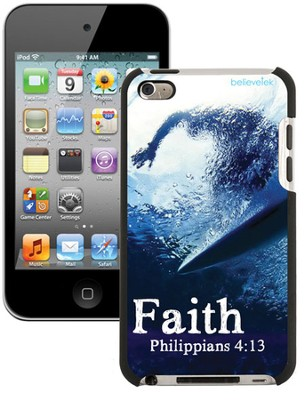 Faith Surfer, Philippians 4:13 iPod 4G Case  -