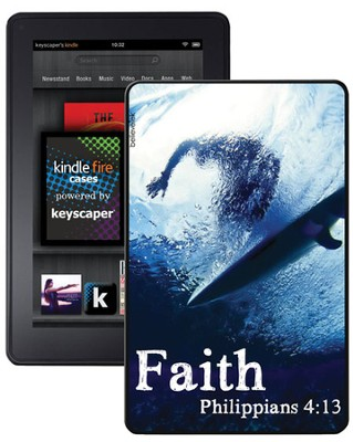 Faith Surfer, Philippians 4:13 Kindle Fire Case  -
