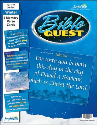 Bible Quest Junior (Grades 5-6) Memory Verse Visuals   -