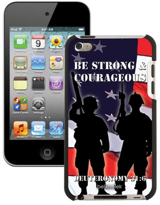 Be Strong and Courageous Soldiers iPod Case 4G Case  -
