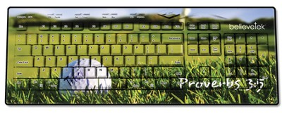 Golf, Proverbs 3:5 USB Wireless Keyboard  -