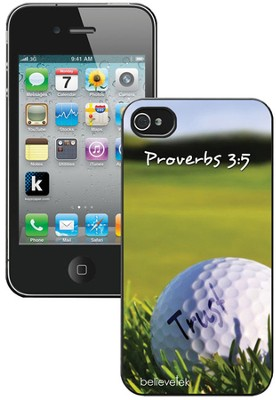 Golf, Proverbs 3:5 iPhone 4 Case  -
