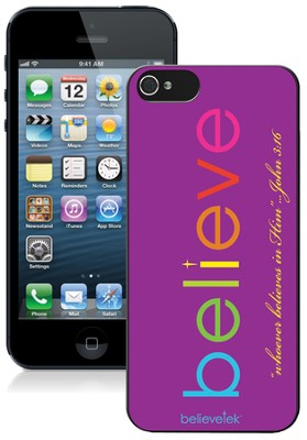 Believe iPhone 5 Case, Purple  -