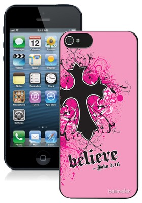 Cross iPhone 5 Case, Pink  -