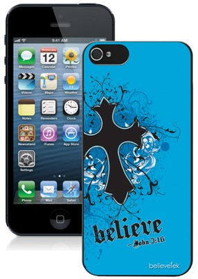 Cross iPhone 5 Case, Blue  -