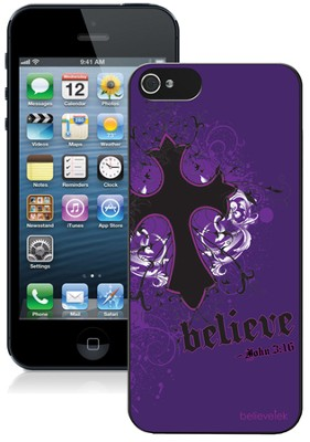 Cross iPhone 5 Case, Purple  -