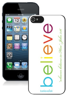 Believe iPhone 5 Case, White  -