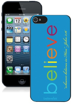 Believe iPhone 5 Case, Blue  -