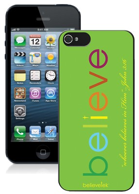 Believe iPhone 5 Case, Green  -
