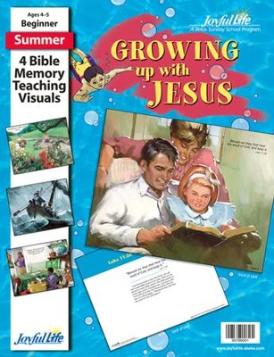 Growing Up with Jesus Beginner (ages 4 & 5) Bible  Memory Verse Visuals  -