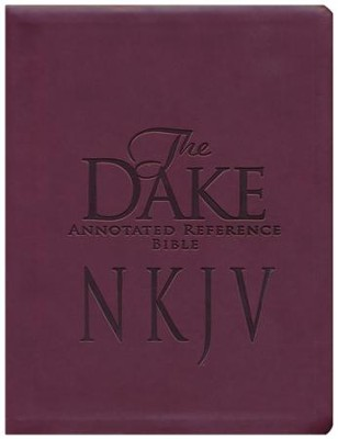 NKJV Dake Bible Imitation Leather Burgundy   -