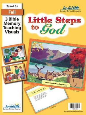 Little Steps to God (ages 2 & 3) Bible Memory Verse Visuals  -