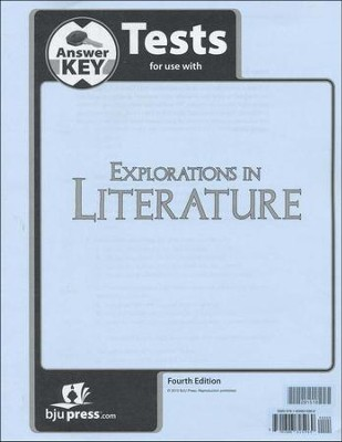 Explorations in Literature (Grade 7) Test Answer Key, 4th Edition  -