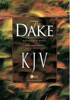 KJV Dake Annotated Reference Bible (large note edition) -  soft leather-look, burgundy  -     By: Finis J. Dake