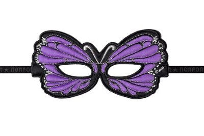 Monarch Dress Up Mask, Purple  -
