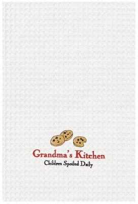 Grandma's Kitchen, Embroidered Towel   -